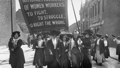 8 mart'ta eylem yapan amerikalı işçi kadınlar